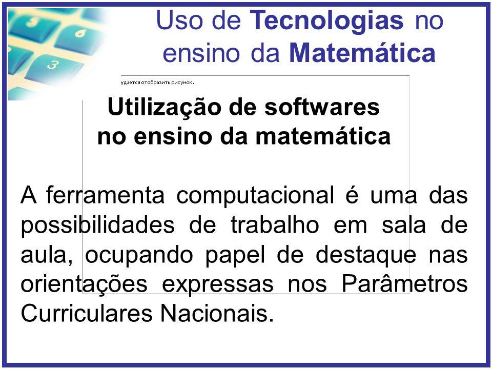 Utilização de softwares no ensino da matemática