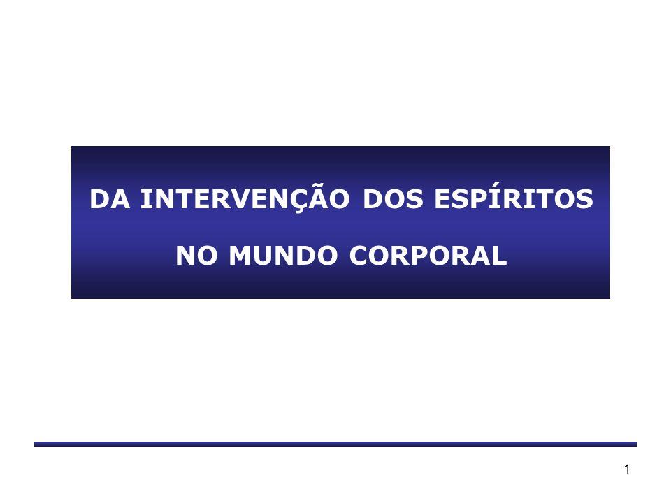 DA INTERVENÇÃO DOS ESPÍRITOS NO MUNDO CORPORAL
