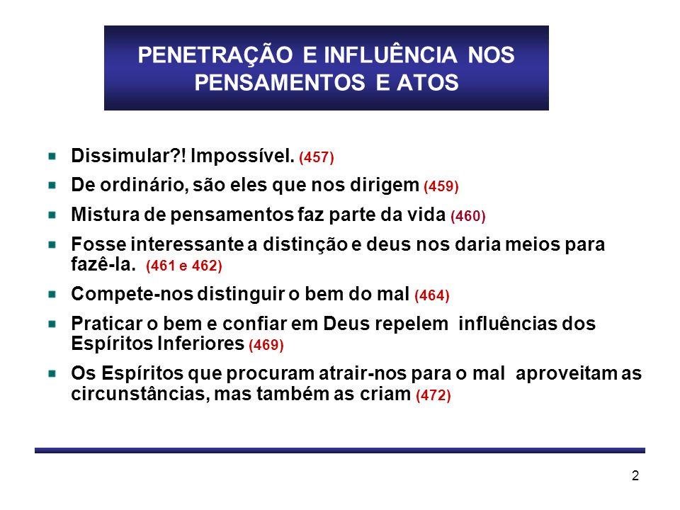 PENETRAÇÃO E INFLUÊNCIA NOS PENSAMENTOS E ATOS