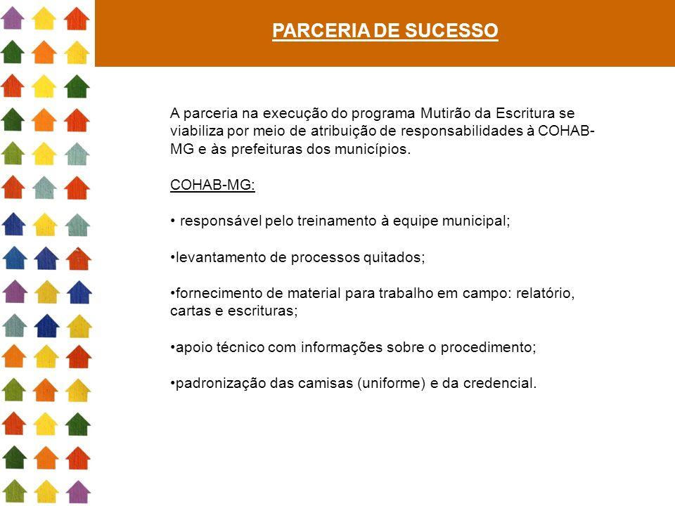 PARCERIA DE SUCESSO