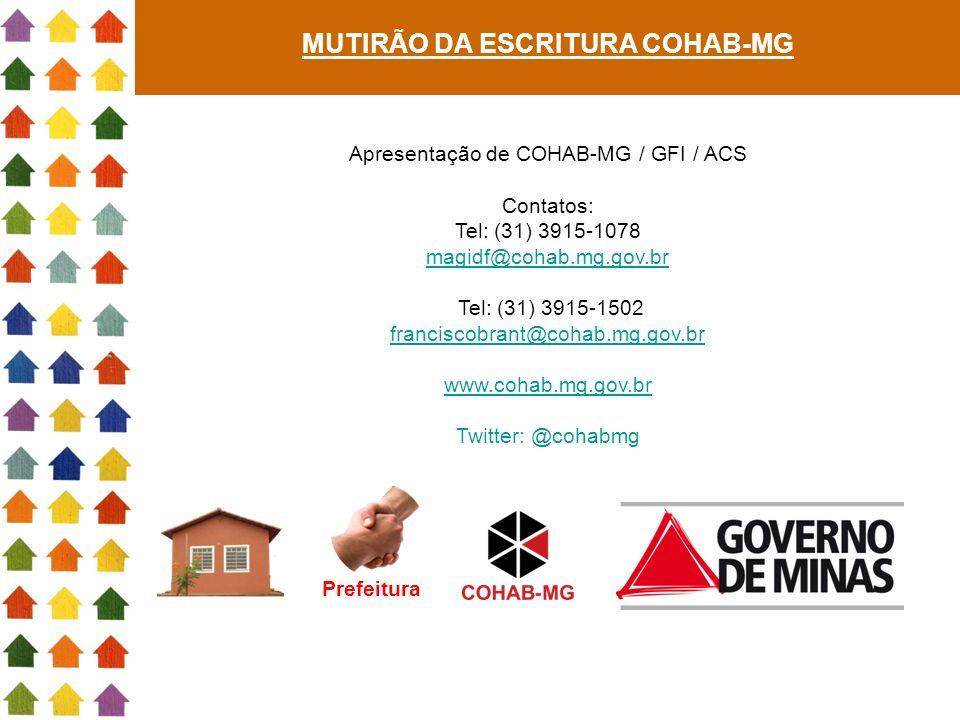 MUTIRÃO DA ESCRITURA COHAB-MG