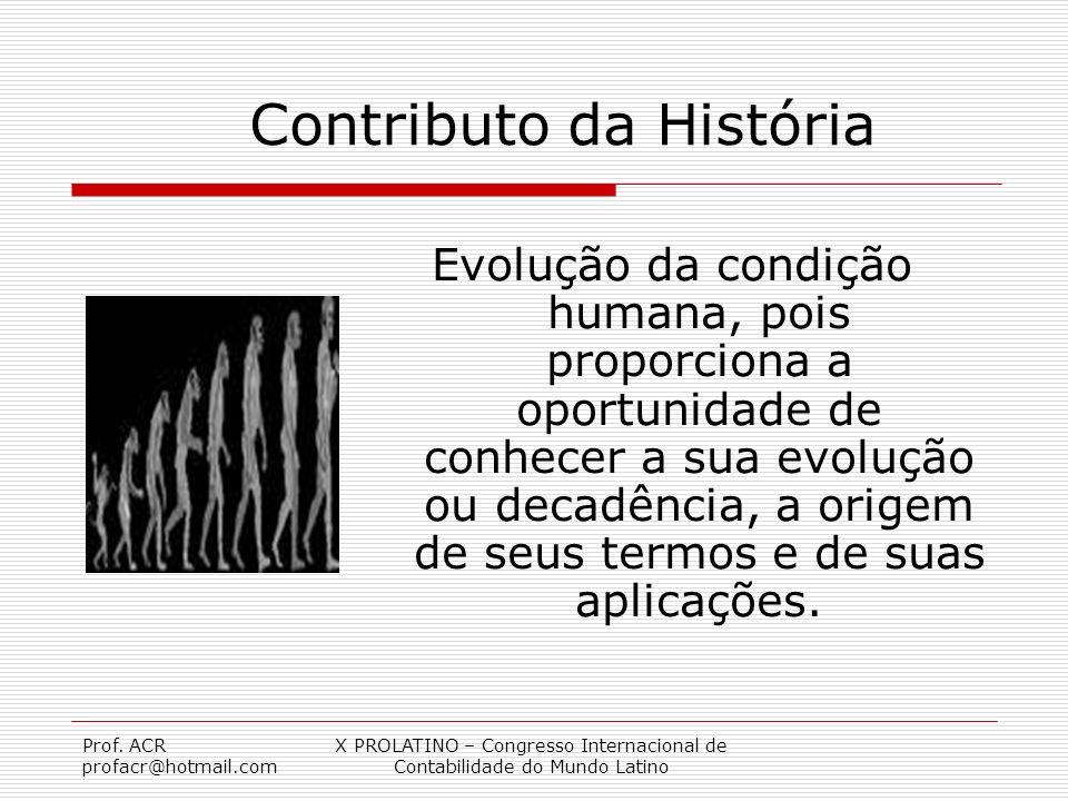 Contributo da História