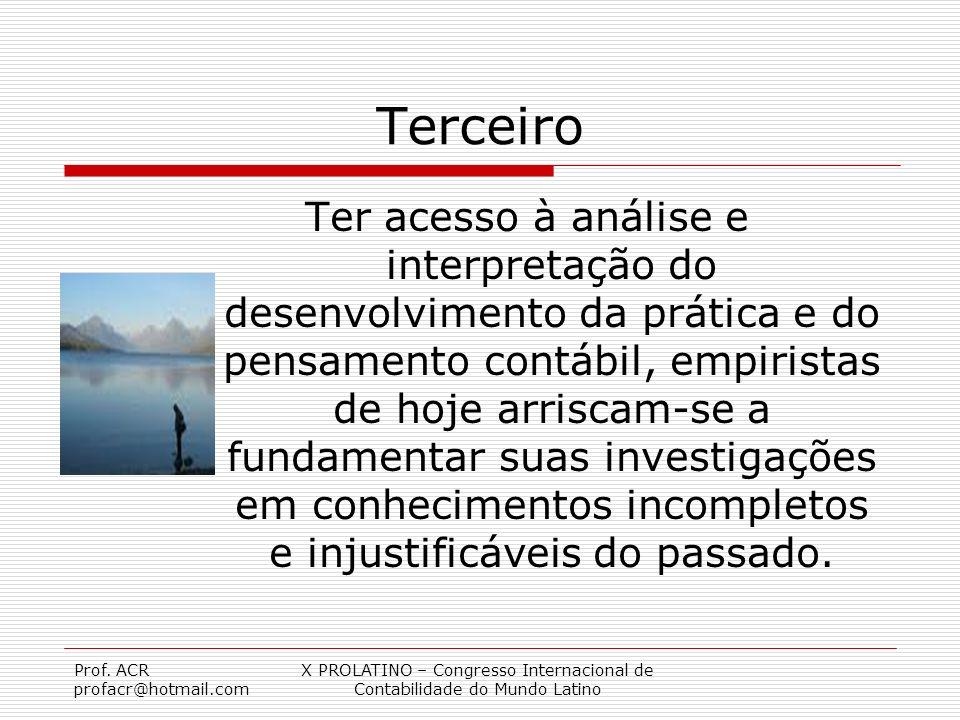 X PROLATINO – Congresso Internacional de Contabilidade do Mundo Latino