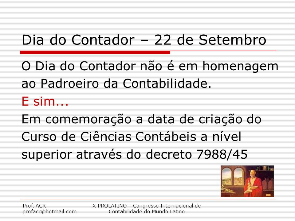 Dia do Contador – 22 de Setembro