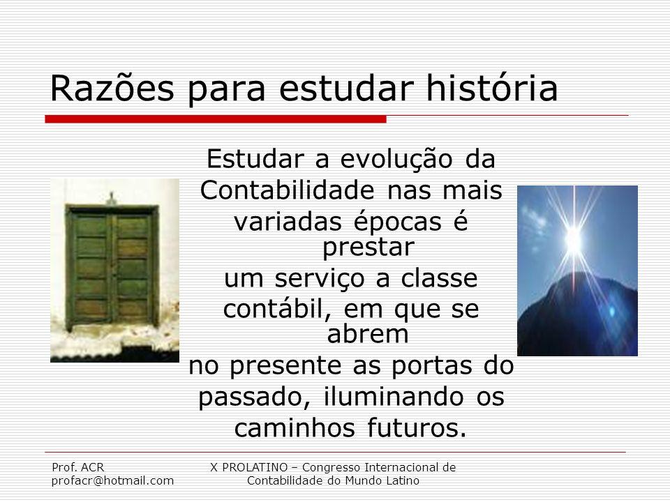 Razões para estudar história