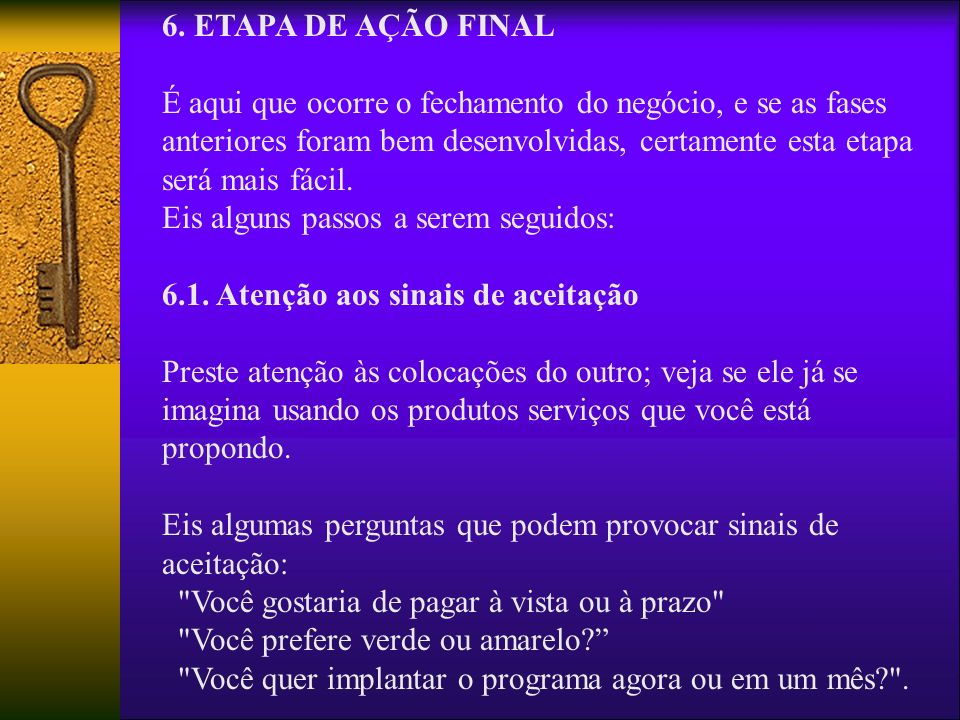 6. ETAPA DE AÇÃO FINAL