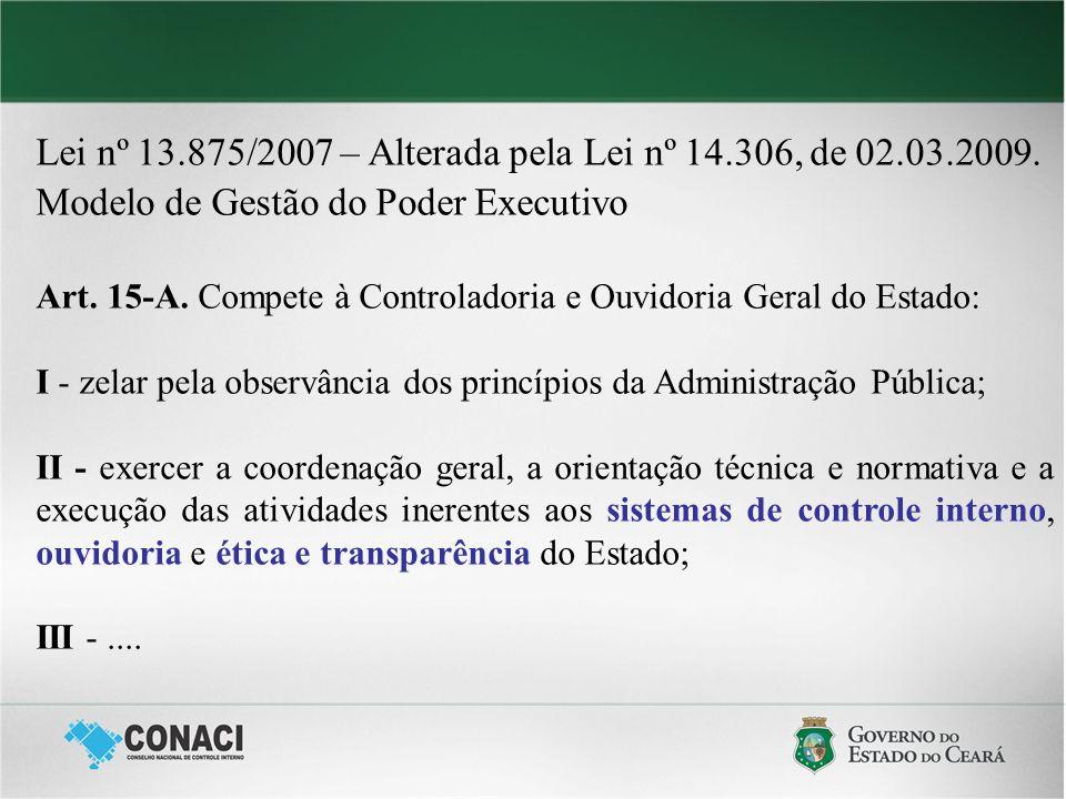 Lei nº 13.875/2007 – Alterada pela Lei nº 14.306, de 02.03.2009.