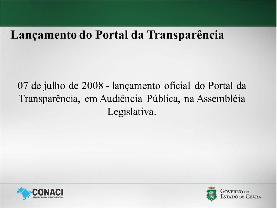 Lançamento do Portal da Transparência