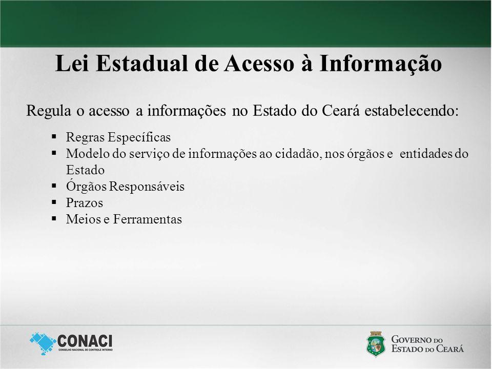 Lei Estadual de Acesso à Informação