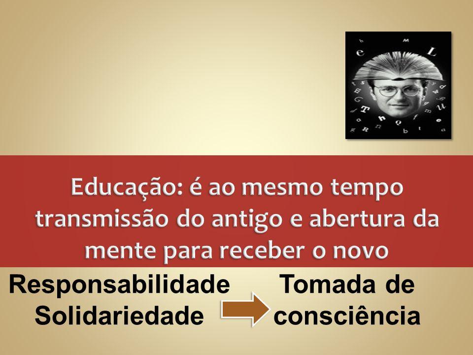 Educação: é ao mesmo tempo transmissão do antigo e abertura da mente para receber o novo