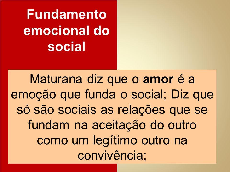 Fundamento emocional do social