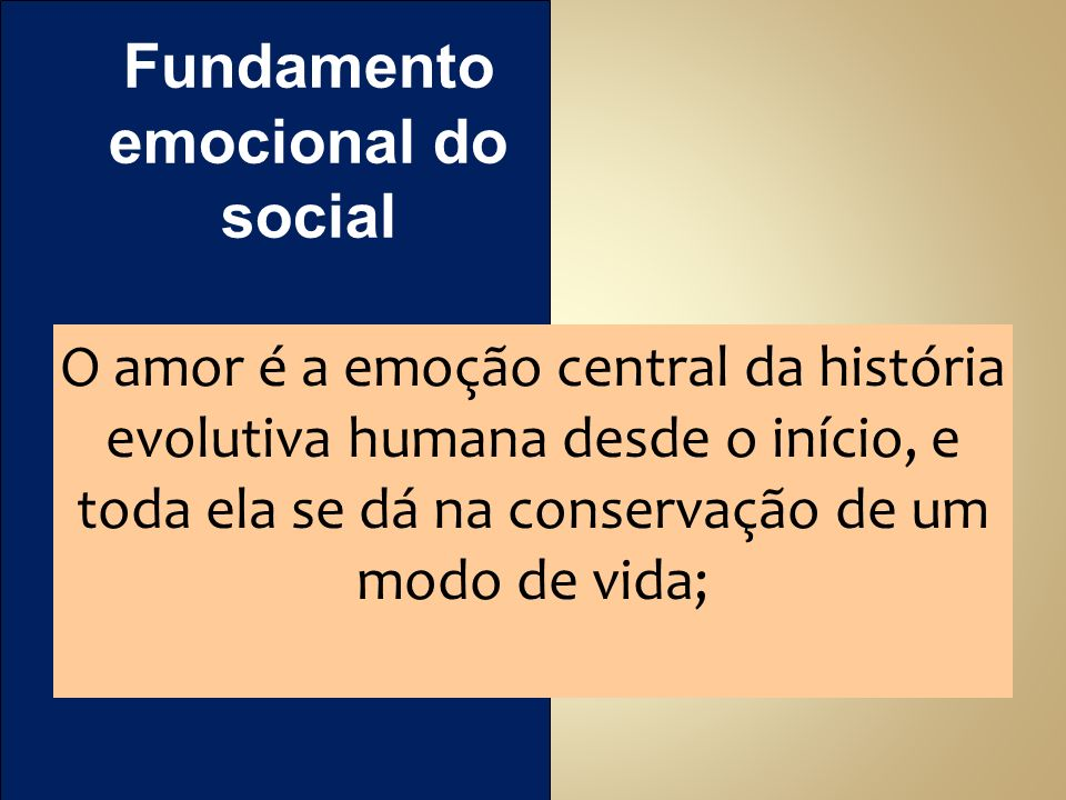 Fundamento emocional do social