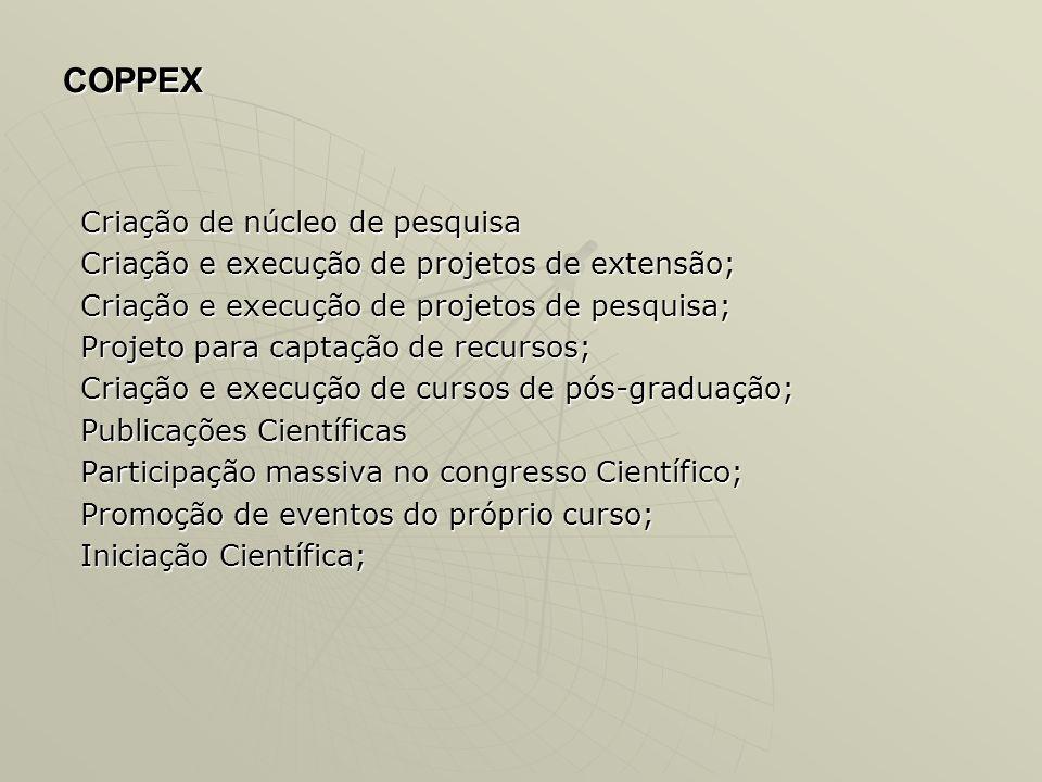 COPPEX Criação de núcleo de pesquisa