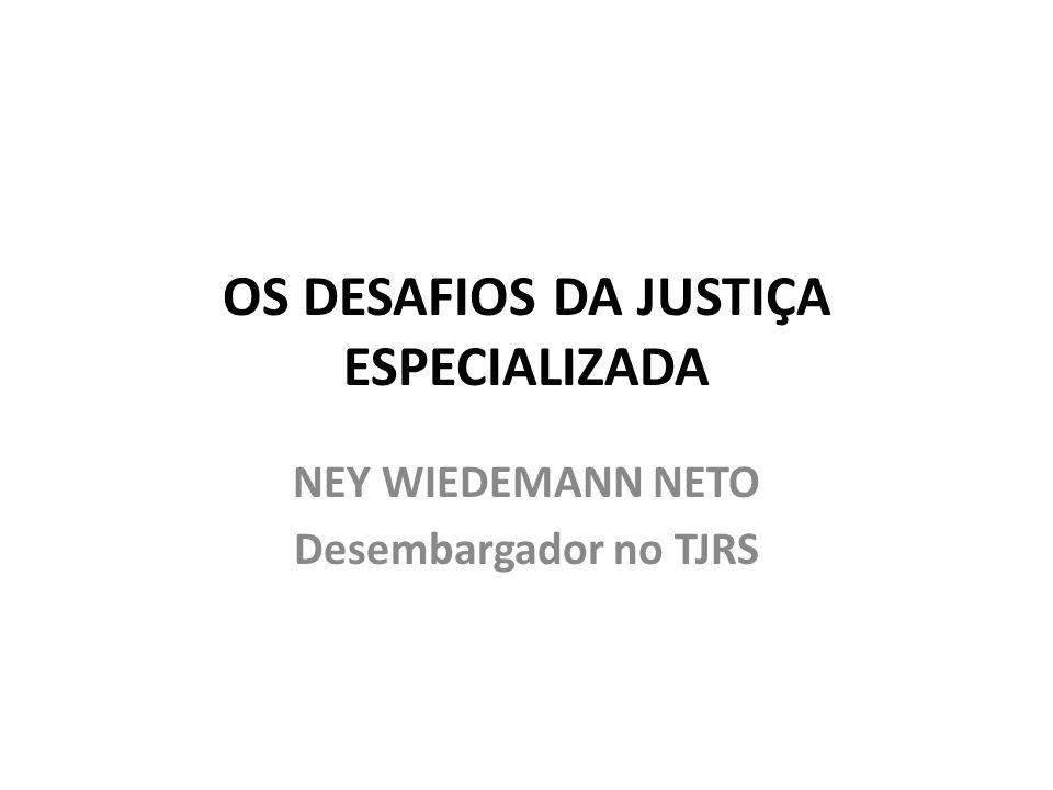 OS DESAFIOS DA JUSTIÇA ESPECIALIZADA