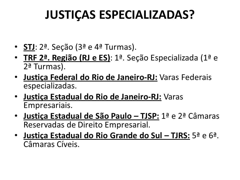 JUSTIÇAS ESPECIALIZADAS