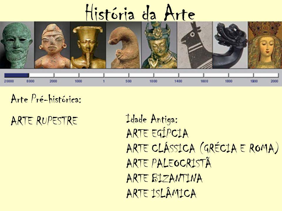 História da Arte Arte Pré-histórica: ARTE RUPESTRE Idade Antiga: