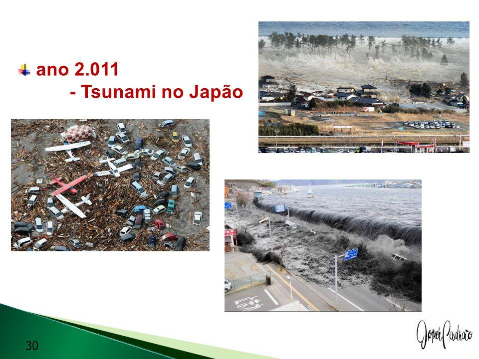 ano 2.011 - Tsunami no Japão