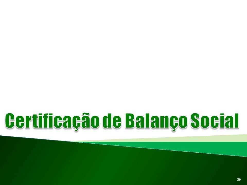 Certificação de Balanço Social