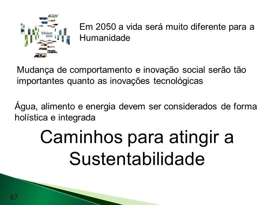 Caminhos para atingir a Sustentabilidade