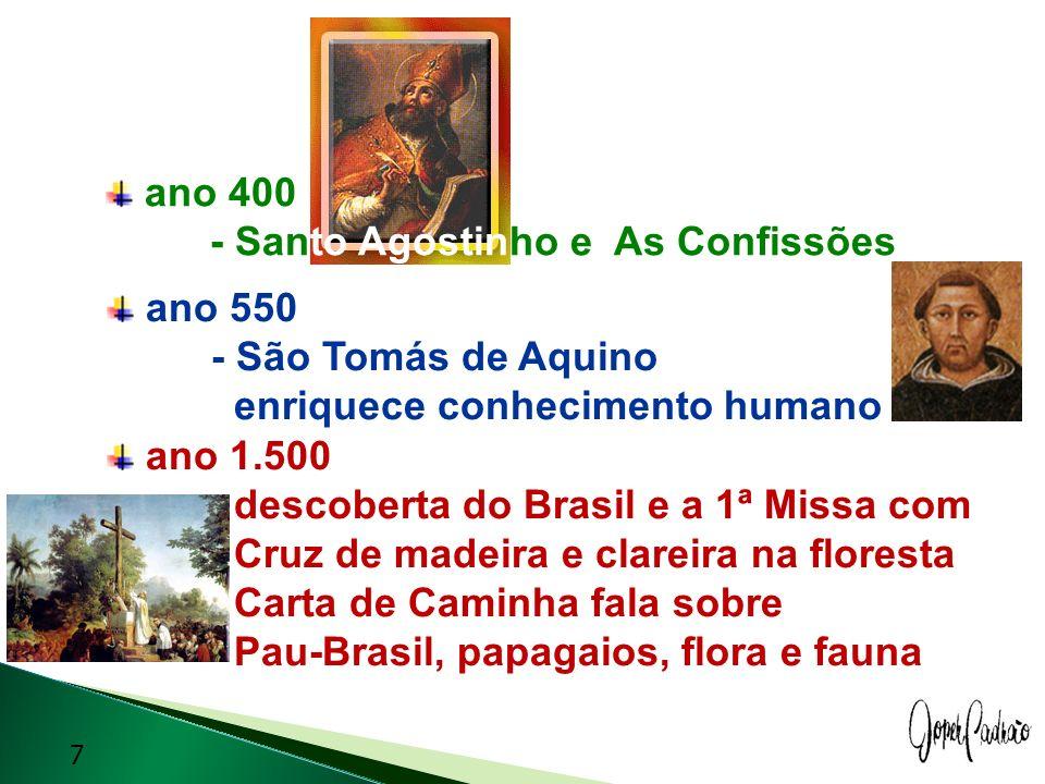 ano 400 - Santo Agostinho e As Confissões