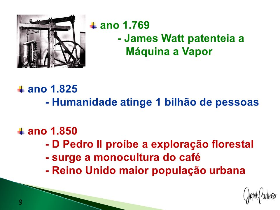 ano James Watt patenteia a