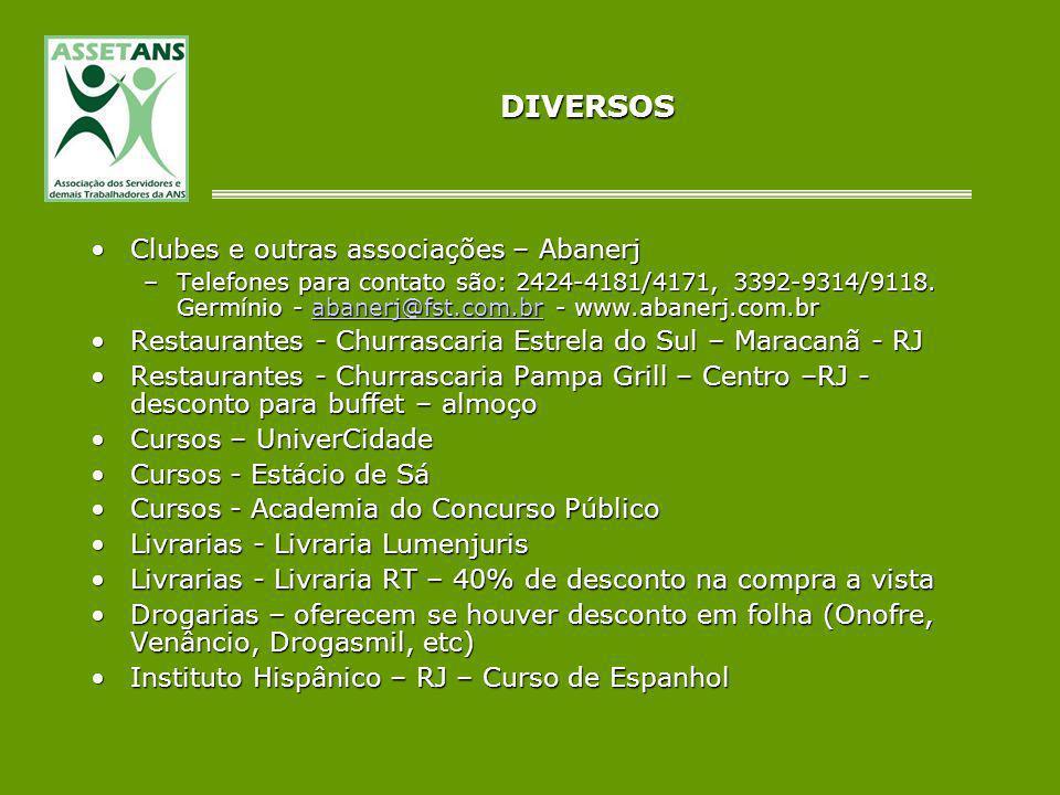 DIVERSOS Clubes e outras associações – Abanerj
