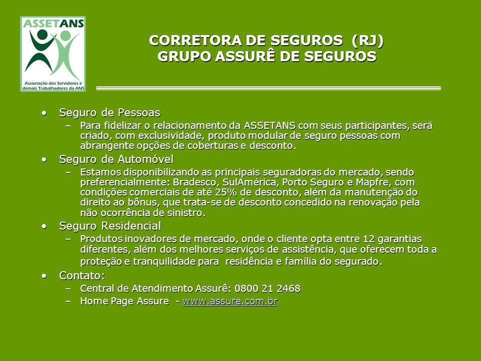 CORRETORA DE SEGUROS (RJ) GRUPO ASSURÊ DE SEGUROS