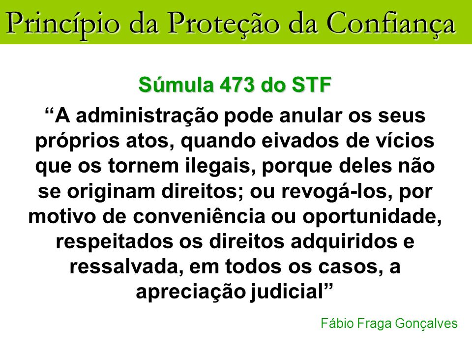 Súmula 473 do STF