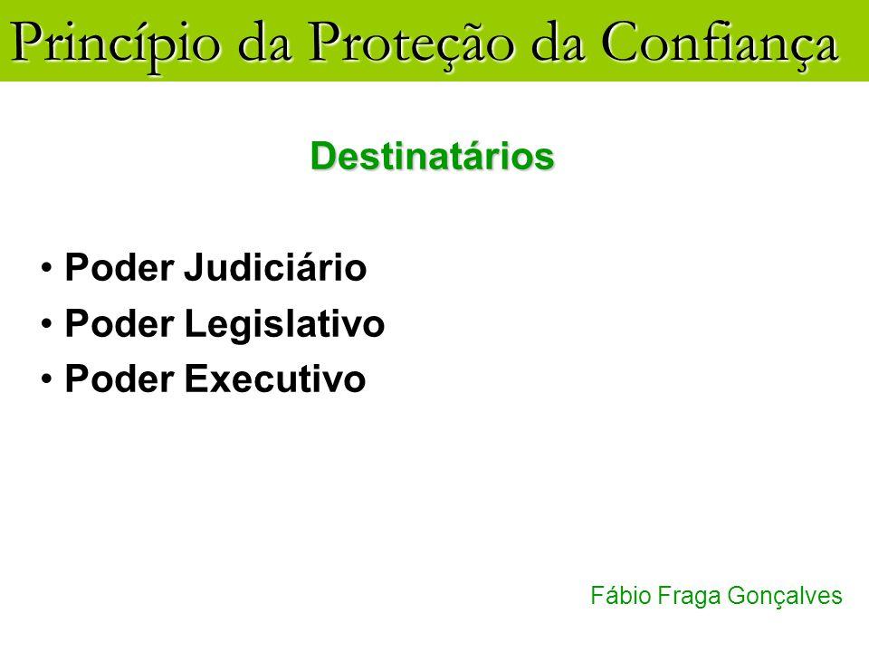 Destinatários Poder Judiciário Poder Legislativo Poder Executivo