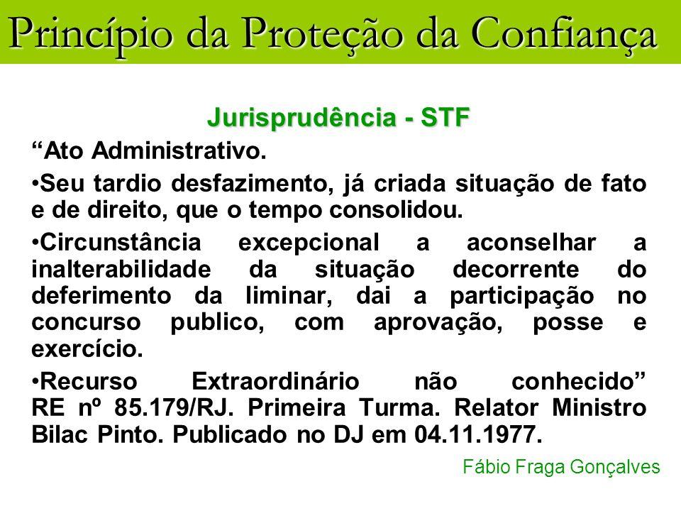 Jurisprudência - STF Ato Administrativo.