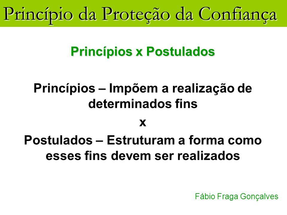 Princípios x Postulados