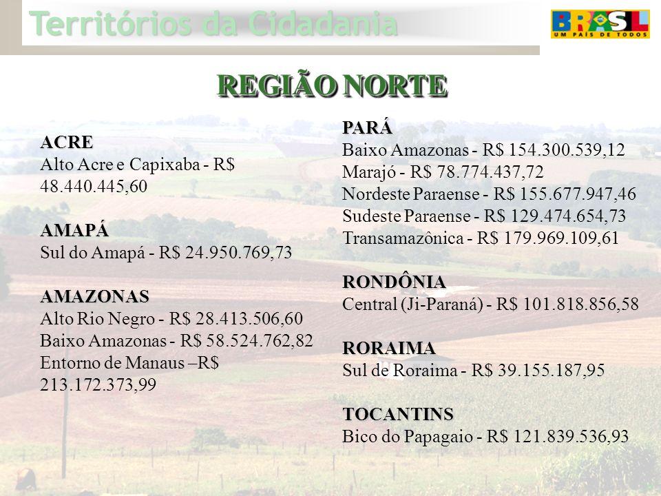 REGIÃO NORTE PARÁ Baixo Amazonas - R$ 154.300.539,12 ACRE