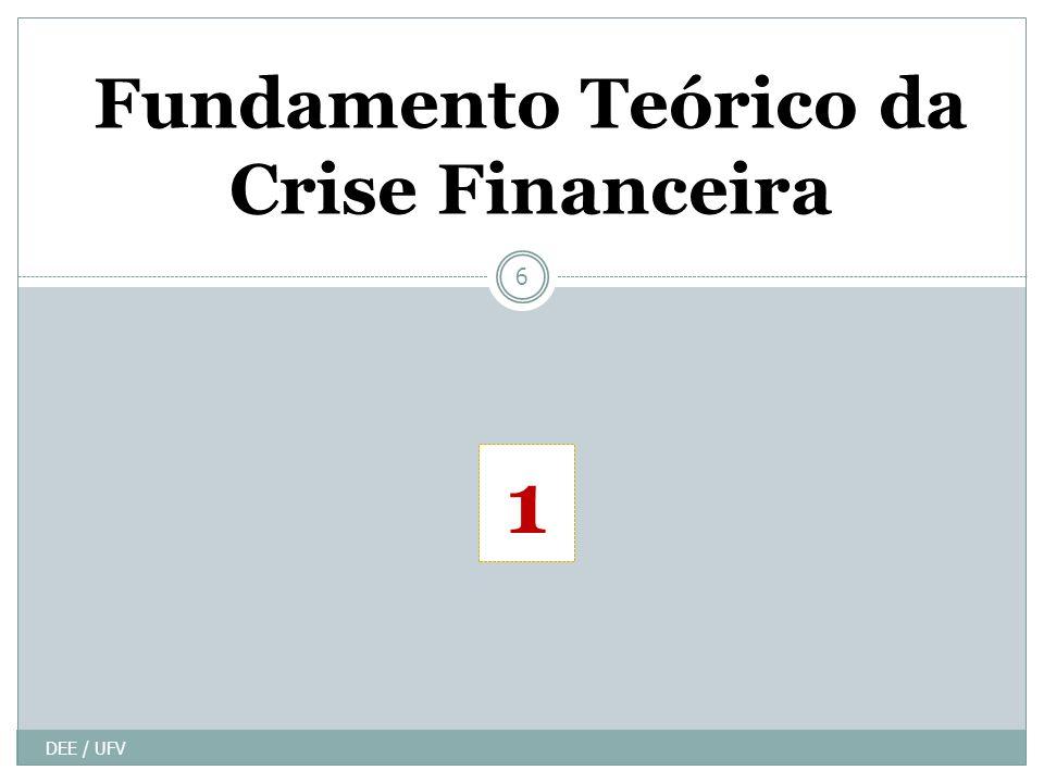 Fundamento Teórico da Crise Financeira