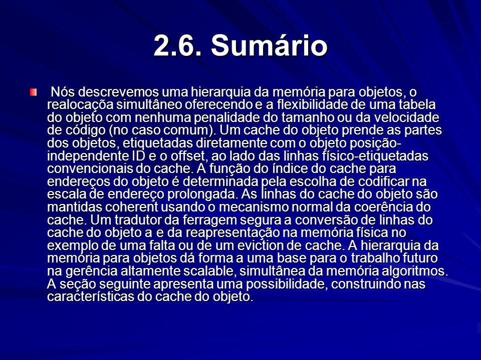 2.6. Sumário