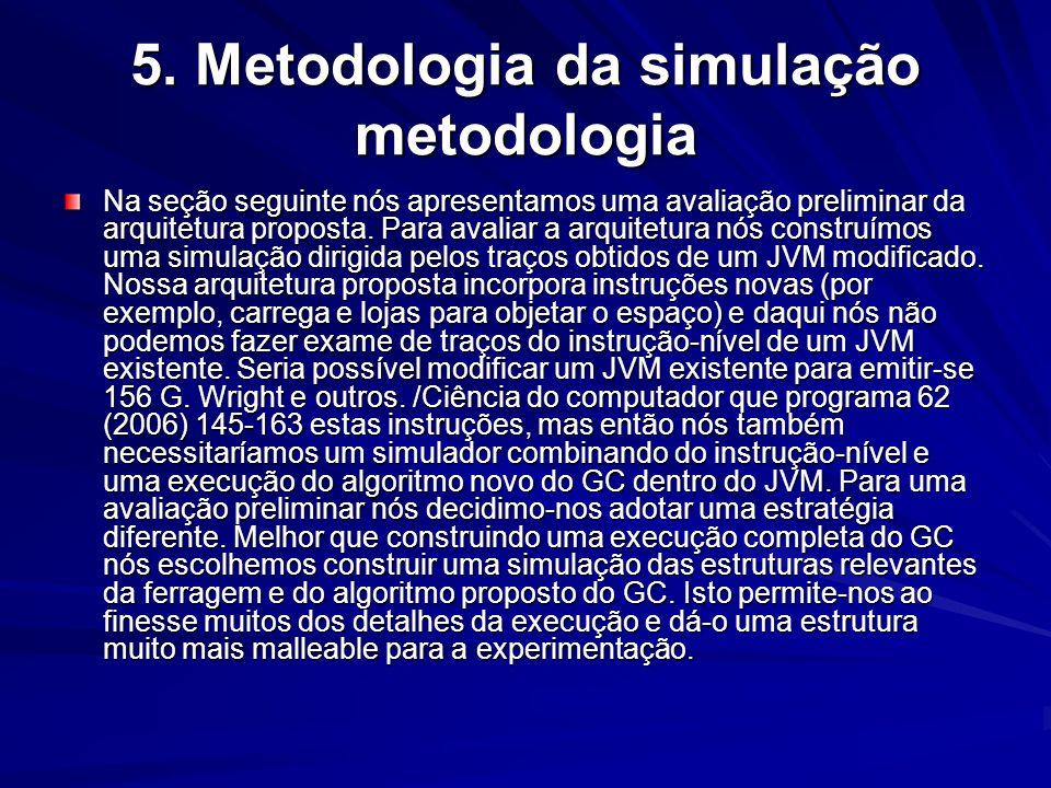 5. Metodologia da simulação metodologia