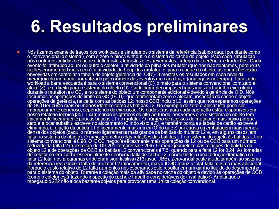 6. Resultados preliminares