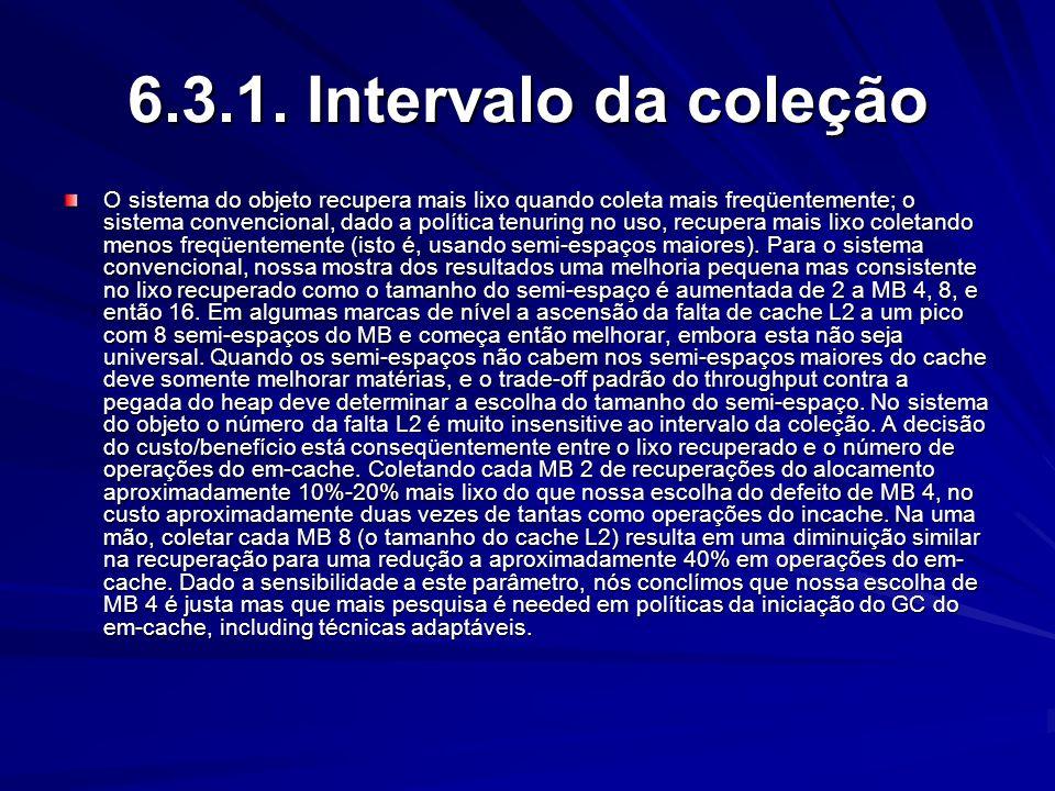 6.3.1. Intervalo da coleção