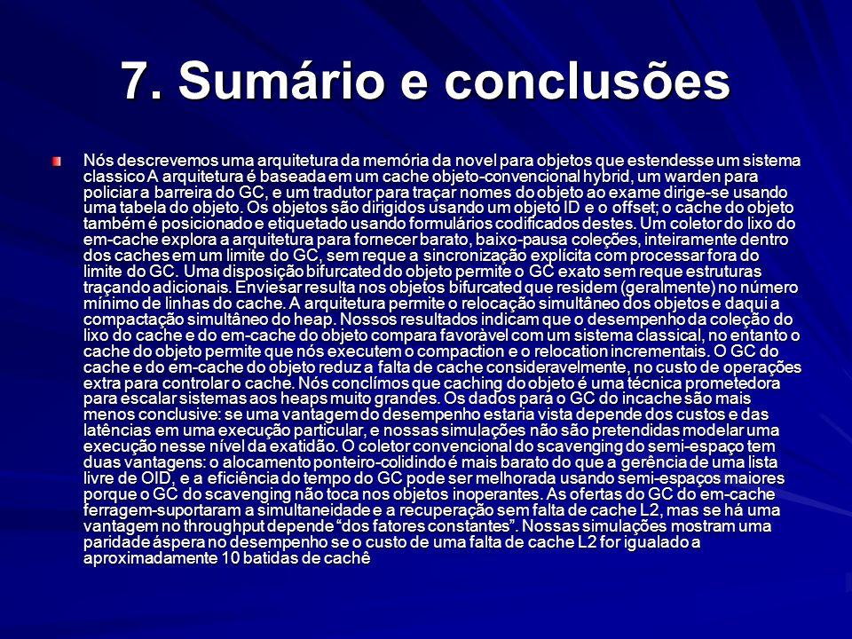 7. Sumário e conclusões