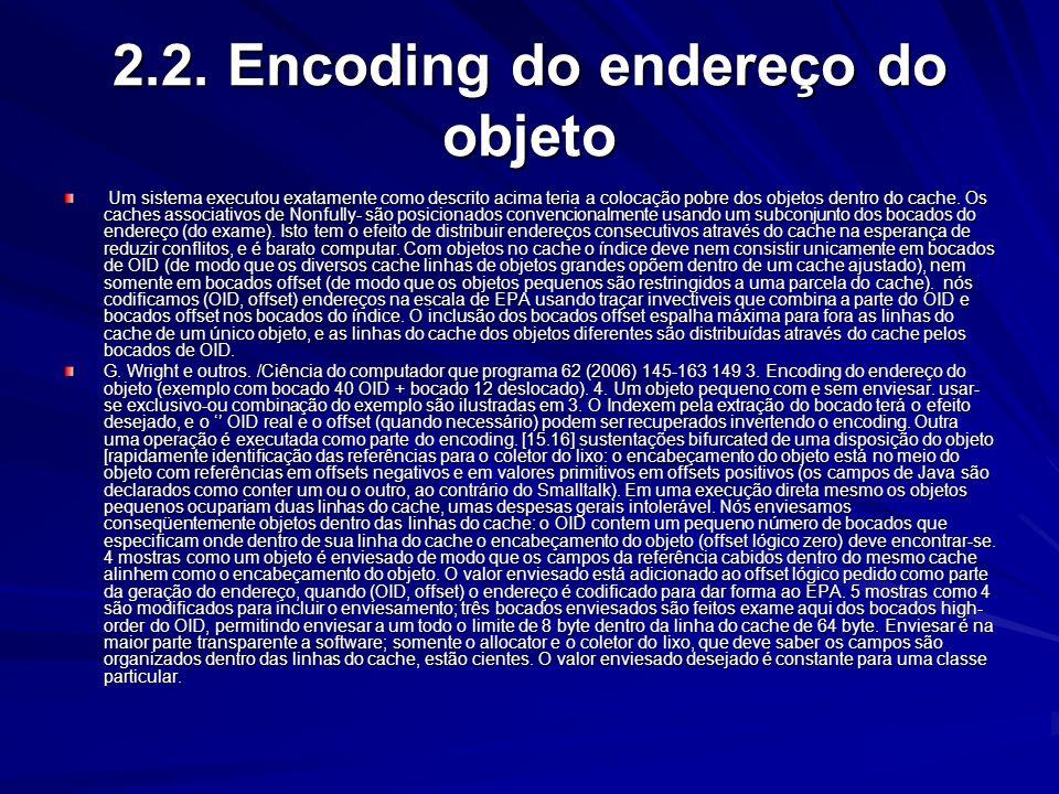 2.2. Encoding do endereço do objeto