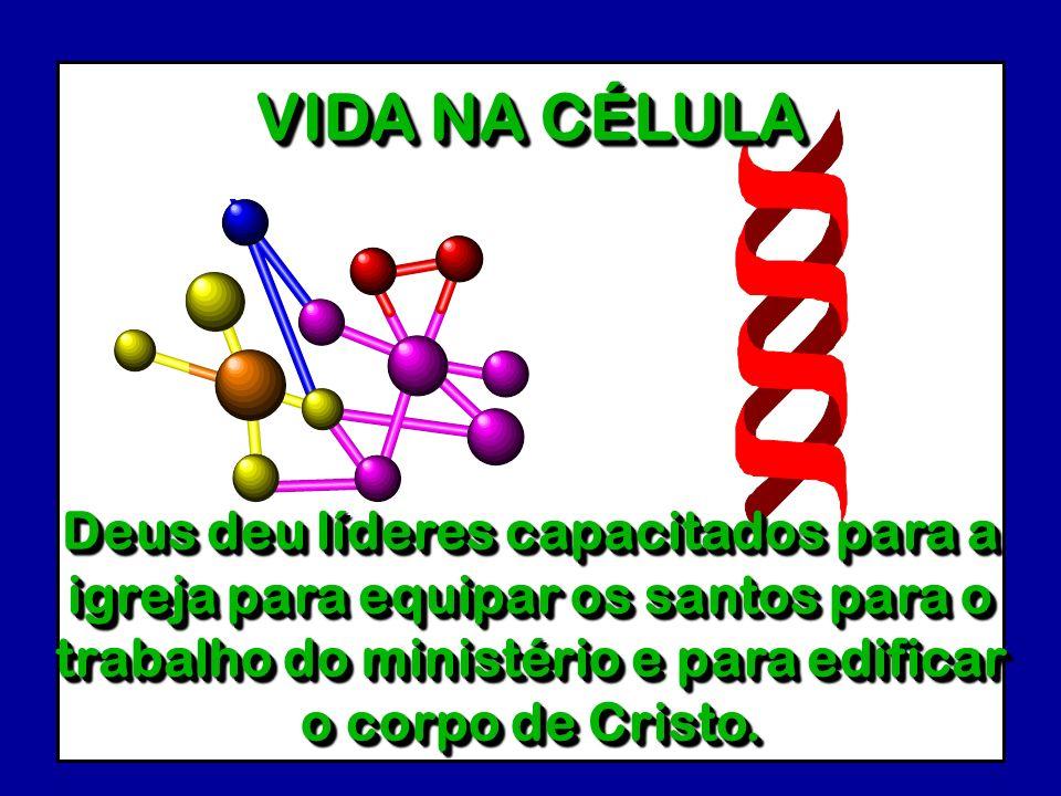 VIDA NA CÉLULADeus deu líderes capacitados para a igreja para equipar os santos para o trabalho do ministério e para edificar o corpo de Cristo.