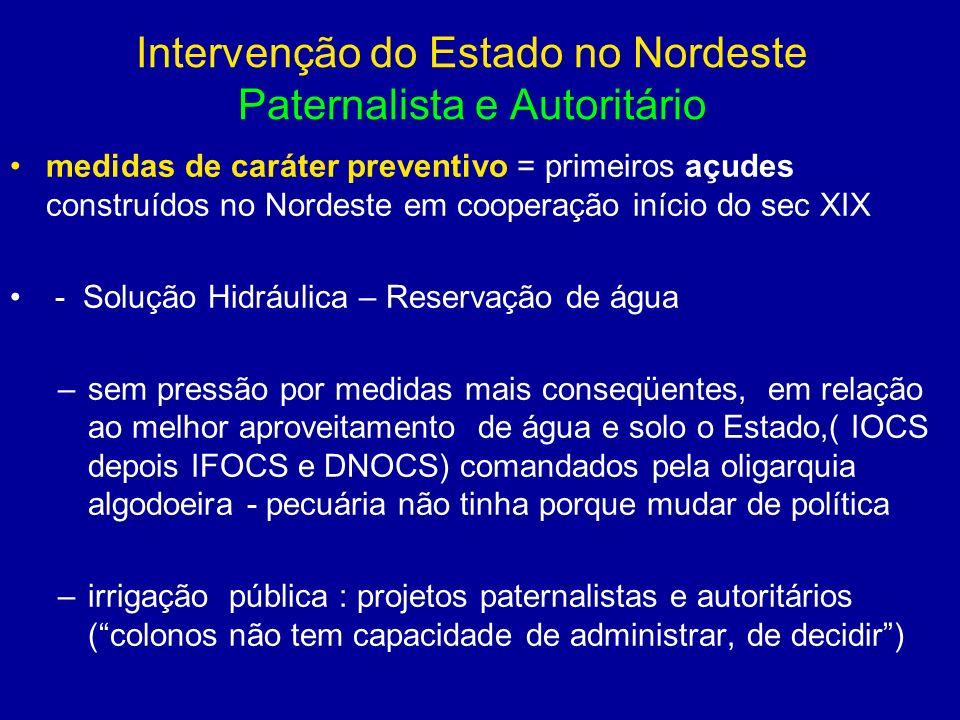Intervenção do Estado no Nordeste Paternalista e Autoritário
