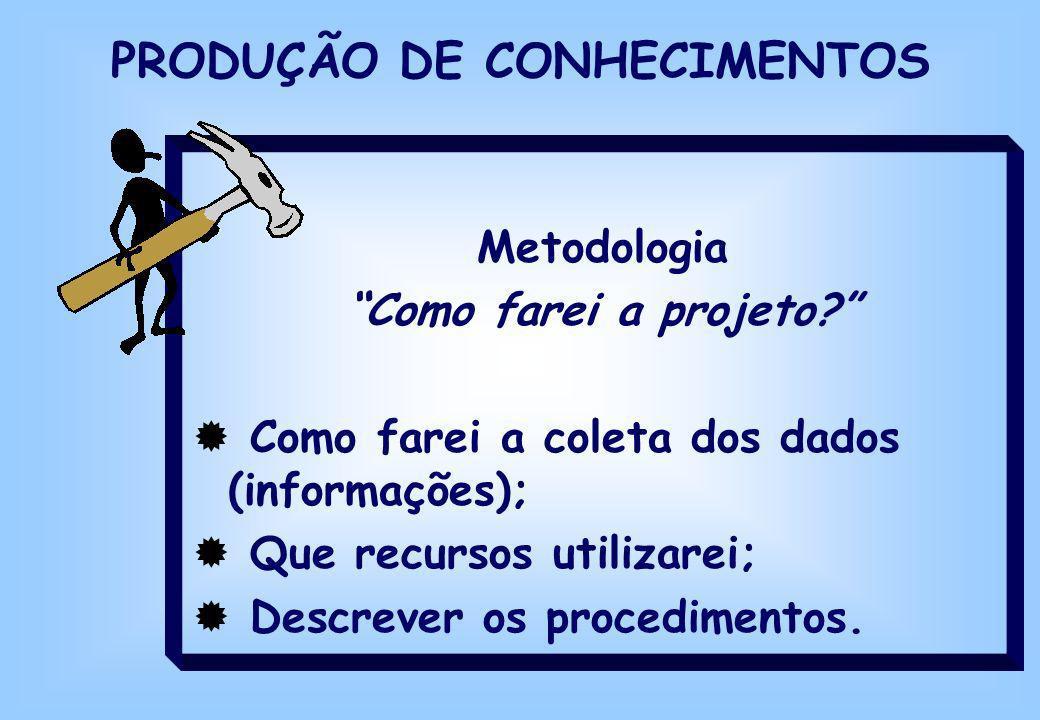 PRODUÇÃO DE CONHECIMENTOS