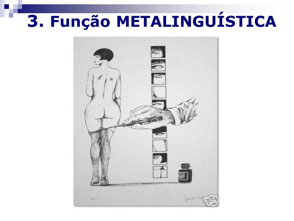 3. Função METALINGUÍSTICA