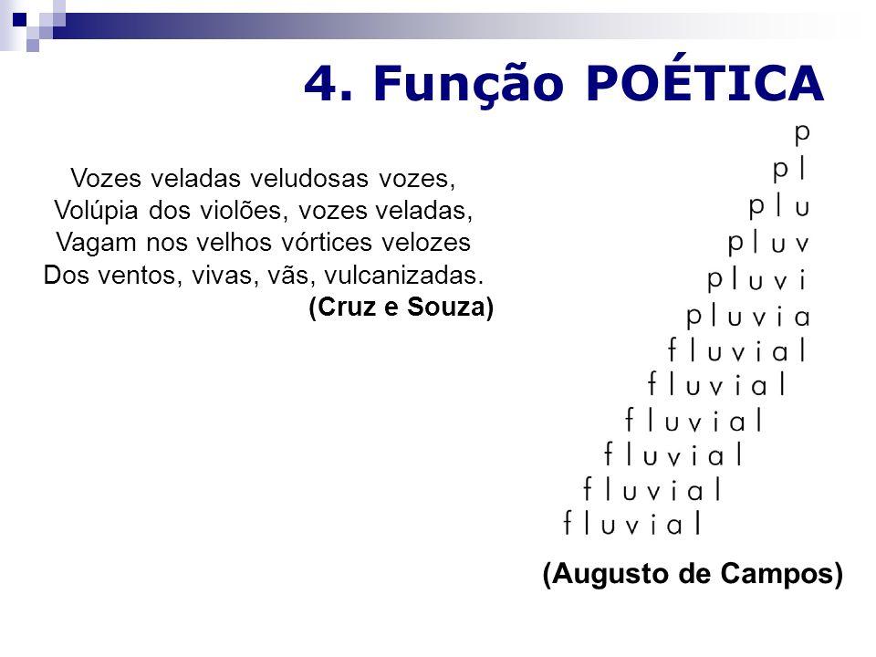 4. Função POÉTICA (Augusto de Campos)