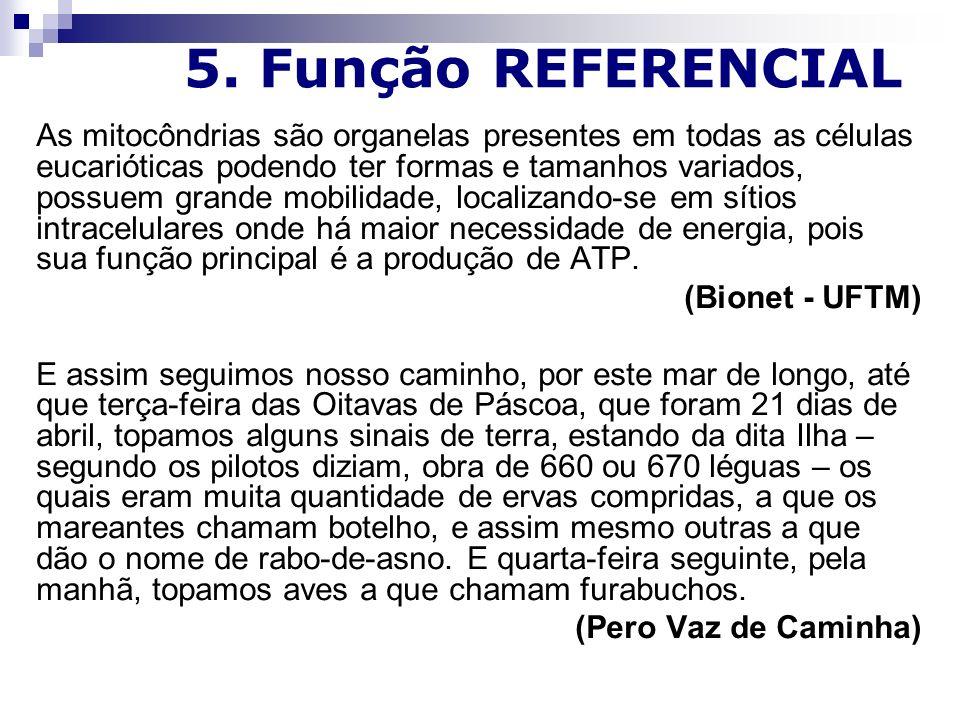 5. Função REFERENCIAL