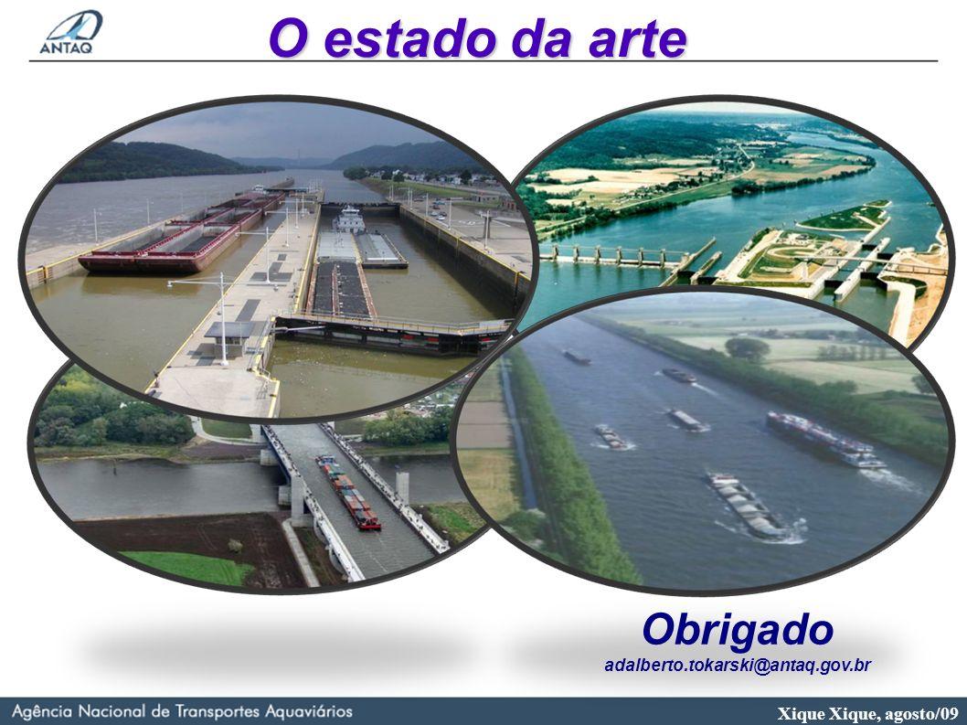 O estado da arte Obrigado adalberto.tokarski@antaq.gov.br 22 22 22 22
