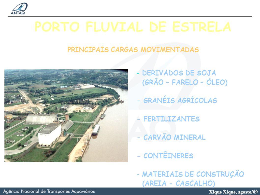 PORTO FLUVIAL DE ESTRELA PRINCIPAIS CARGAS MOVIMENTADAS