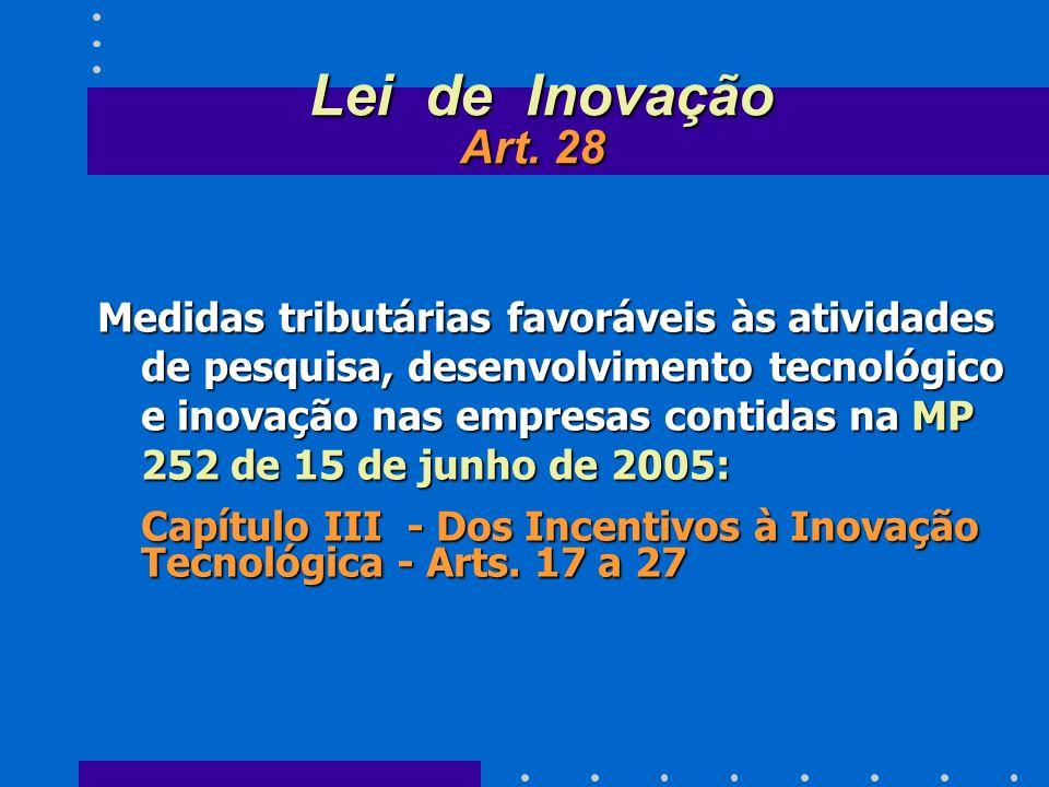 Lei de Inovação Art. 28