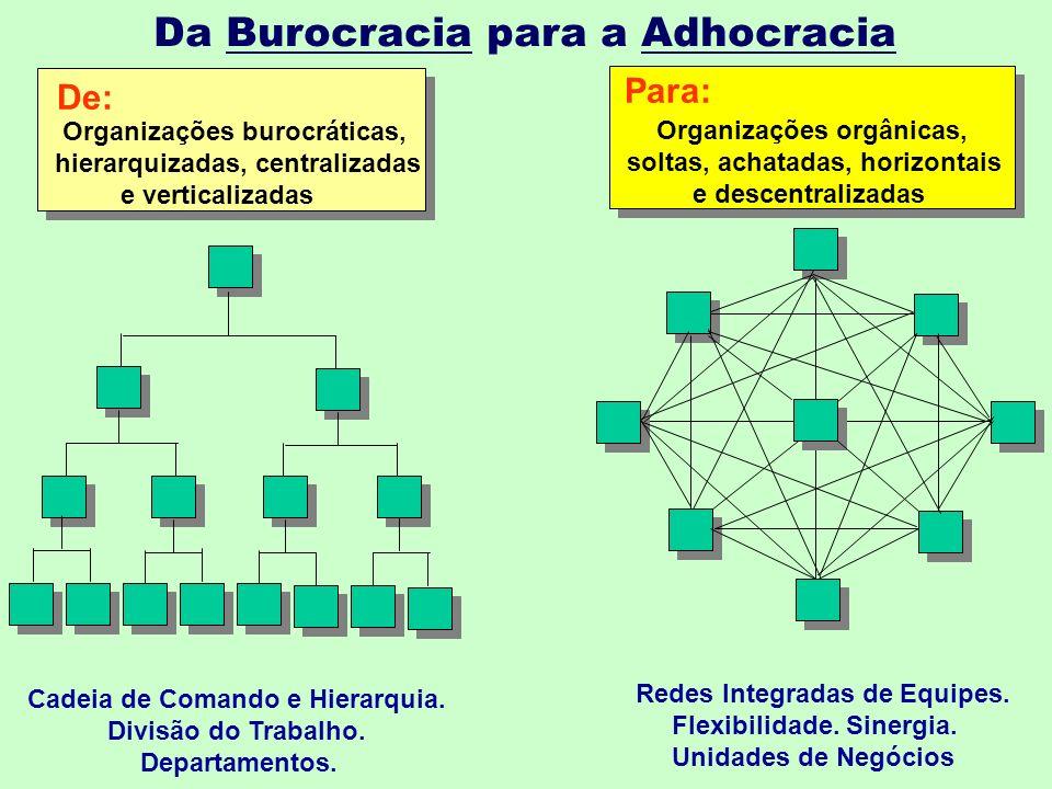 Da Burocracia para a Adhocracia
