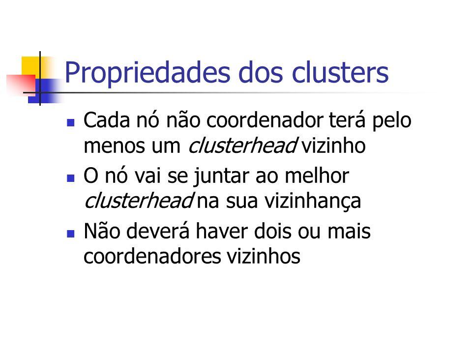 Propriedades dos clusters
